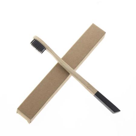 Brosse à dents en Bambou et charbon actif