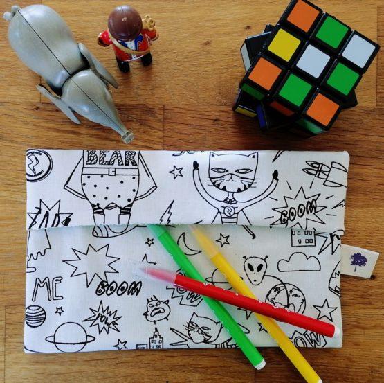Pochette à colorier