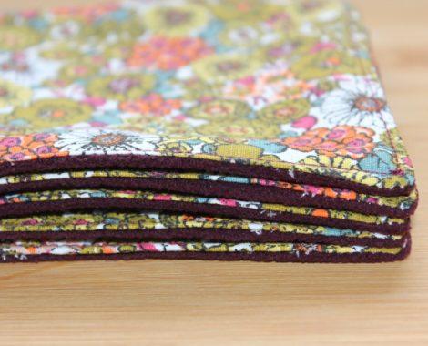 Lot de 5 maxi lingettes fleurs 1